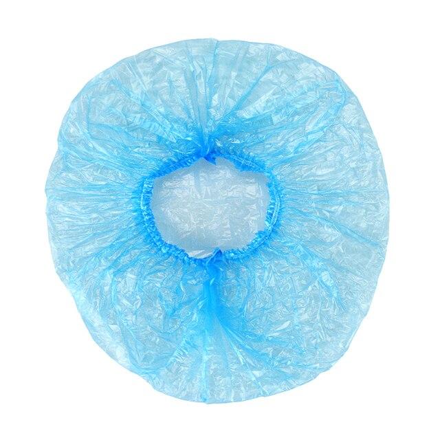 100 pcs disposable shower cap transparent spa salon hotel disposable elastic shower cap bathroom products shower cap