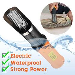 Cordless Electric Fish Scaler with 2000 mah Rechargeable Battery Waterproof Fishing Scalers Easy Clean Fish Stripper Remover 12V