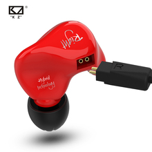 KZ ZS4 אוזניות 1DD + 1BA היברידי טכנולוגיה HIFI סטריאו אוזניות באוזן צג ספורט אוזניות רעש ביטול משחקי אוזניות