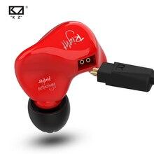 KZ ZS4 Kopfhörer 1DD + 1BA Hybrid technologie HIFI Stereo Headset In Ear Monitor Sport Kopfhörer Noise Cancelling Gaming Ohrhörer