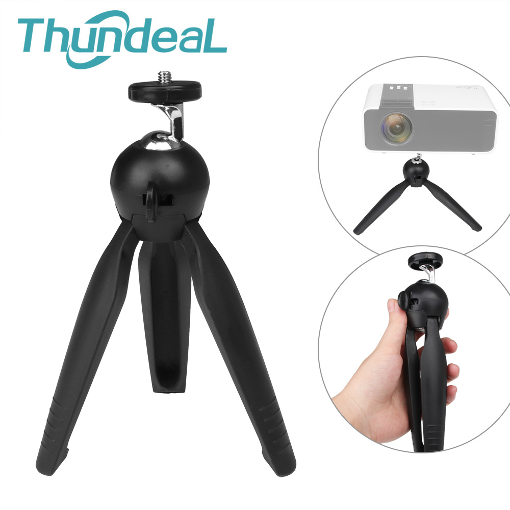 TD90 TD60 Projector Bracket Mini Tabletop Tripod 1 4inch Mount Screw Portable C80 T18 T5 W18 DLP Projector Desk Tripod Holder Stand