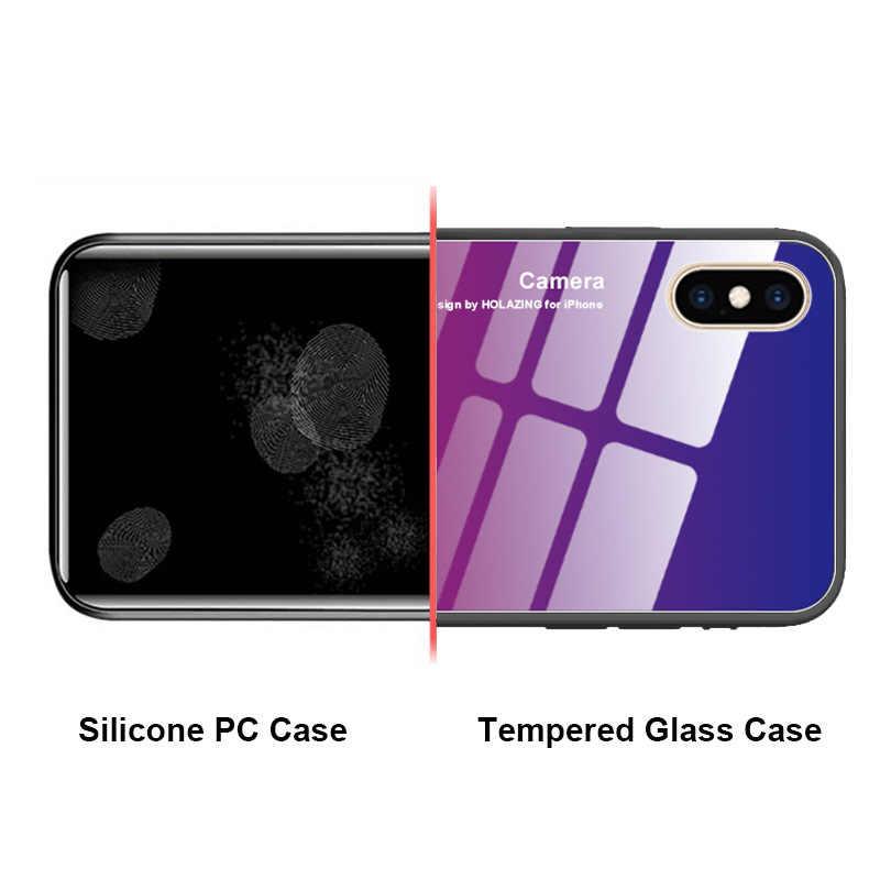 Funda protectora para OnePlus 6 T 6 funda degradada de vidrio templado one plus 1 + 6 1 + 6 T funda trasera para teléfono OnePlus 5T 7 Pro