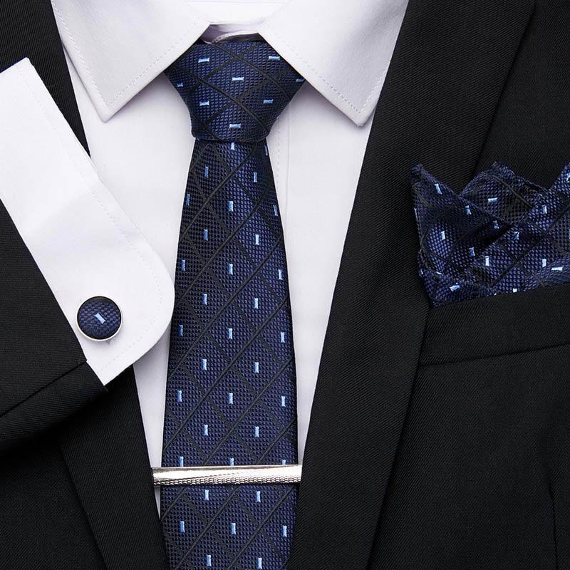 Men Tie 100% Silk Tie 7.5cm Jacquard Party Wedding Business Woven Fashion Designers Necktie For Men Neckties Accessories