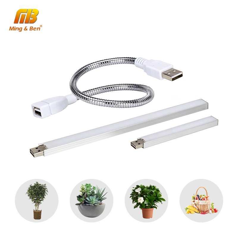 USB светодиодный светильник для выращивания полный спектр 3 Вт/14 светодиодный s 5 Вт/27 Светодиодный s гибкий фитоусилитель DC 5 в фито лампа для настольного растения Цветок ИК УФ выращивание