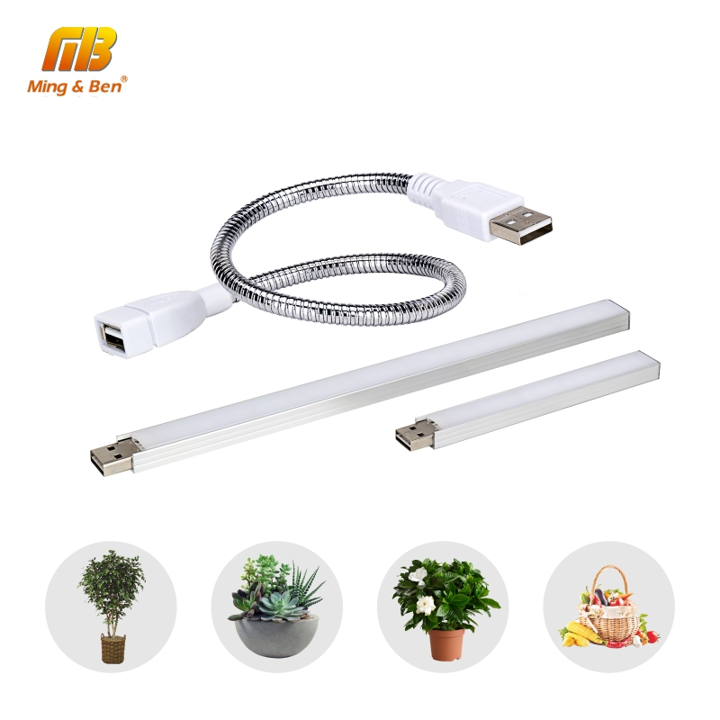 USB Led Grow Light Full Spectrum 3W/14LEDs 5W/27LEDs Flexible Fitolamp DC 5V Phyto Lamp for Desktop Plant Flower IR UV Growing(China)
