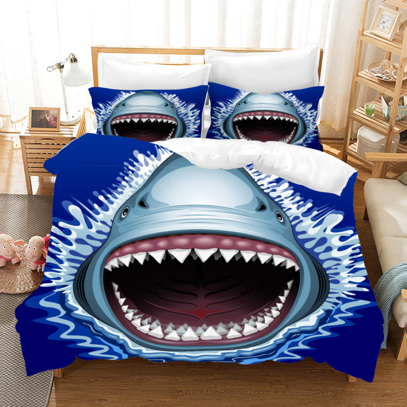 Yi Chu Xin 3d shark Bedding Sets Luxury animal Duvet Cover and Pillowcase  queen size comforter sets