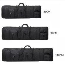 Bolsa de transporte de arma airsoft rifle tático, bolsa militar pesada acessórios de armas, protetor de arma sniper 81 94 118 cm