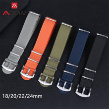 18mm 20mm 22mm 24mm New NATO Nylon Canvas Strap Watchband Striped Simple Sport Replacement Wrist Bracelet Band Watch Accessories(China)
