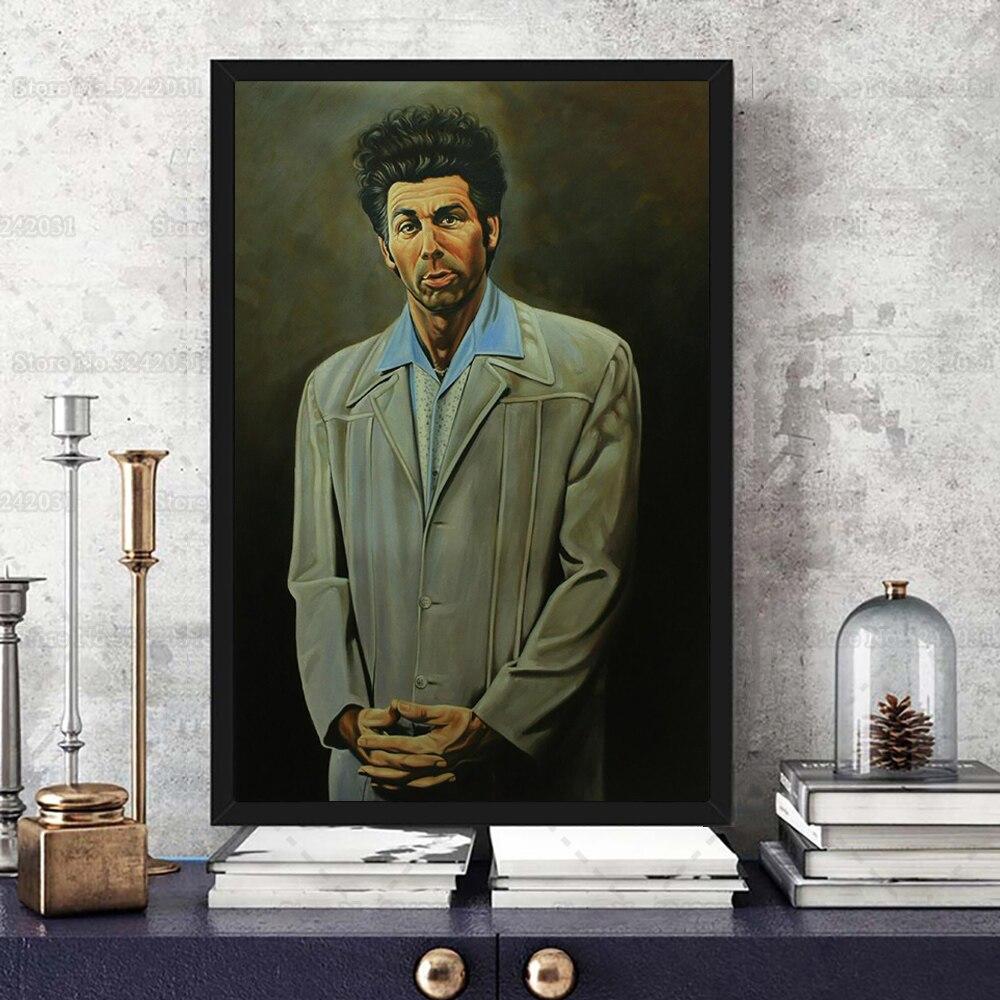 Забавный постер с Майклом Энтони ришардс или Cosmo Kramer, картина с юмором для украшения гостиной