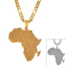 Anniyo hip-hop estilo áfrica mapa pingente colares cor de ouro jóias para mulheres mapas africanos jóias presentes #043821