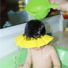 Регулируемая шапочка для купания для детей, шапочка для душа с защитой от шампуня и воды, Регулируемая Шапочка для душа для детей, детская ша...