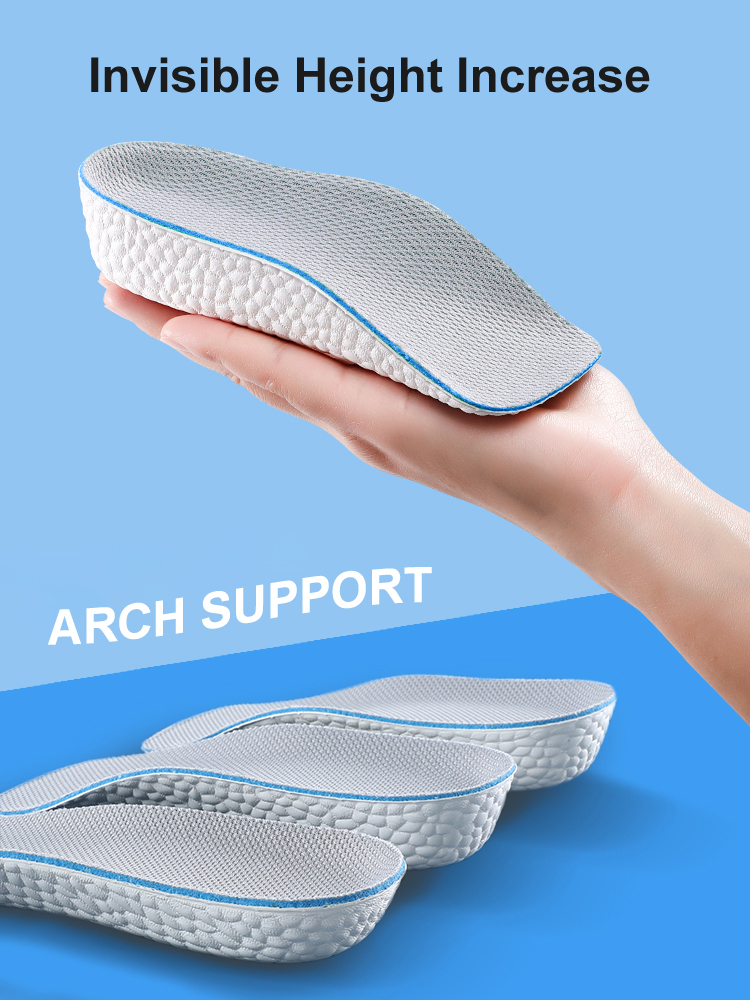 Arch Support Increase Height Insoles Light Weight Soft Elastic Lift for Men Women Shoes Pads 1.5CM 2.5CM 3.5CM Heighten Lift