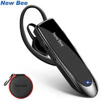 New Bee Bluetooth Headset V5.0 Wireless Handsfree Earphone 24H Talking Headsets With Noise Cancelling Mic For iPhone xiaomi