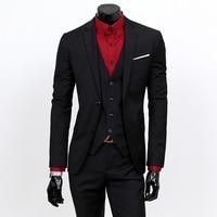 New 3pcs Wedding Suits for Men Three piece Suit Slim Korean Casual Suit Business Dress Groom Wedding Dress Groomsmen Clothes