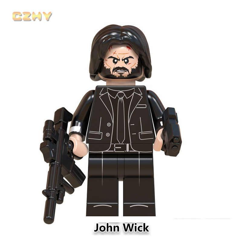 John Wick Legoeinglys ภาพยนตร์ MINIFIGURED ชุดอาคารบล็อกของเล่นเด็ก Illidan Stormrage คริสต์มาสของขวัญ WM830