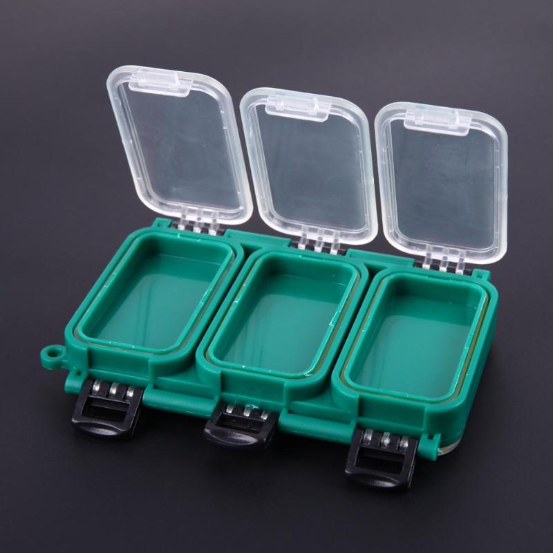 Double Side 6 Compartments Fishing Tackle Lure Box Plastic Waterproof Fly Fishing Hooks Iscas Storage Transparent Boxes Pesca