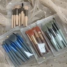 New 8pcs Mini Makeup Brush Set Super Soft Student Eye Shadow Brush Loose Powder Brush Highlight Brush and Other Makeup Tools