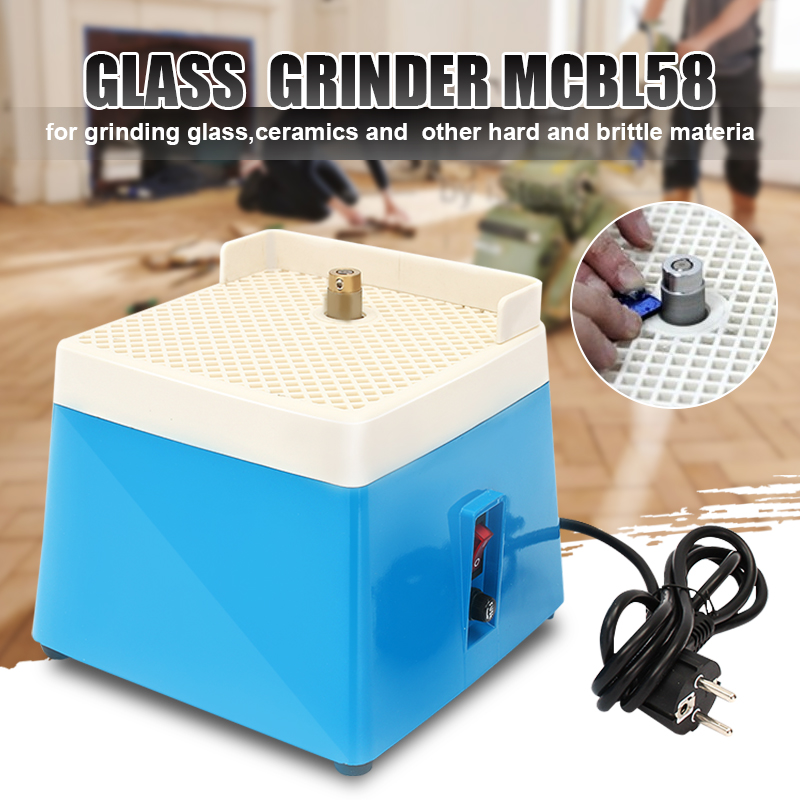 220V Portable Mini Stained Electric Grinder Diamond Glass Art Glass Grinding Tool