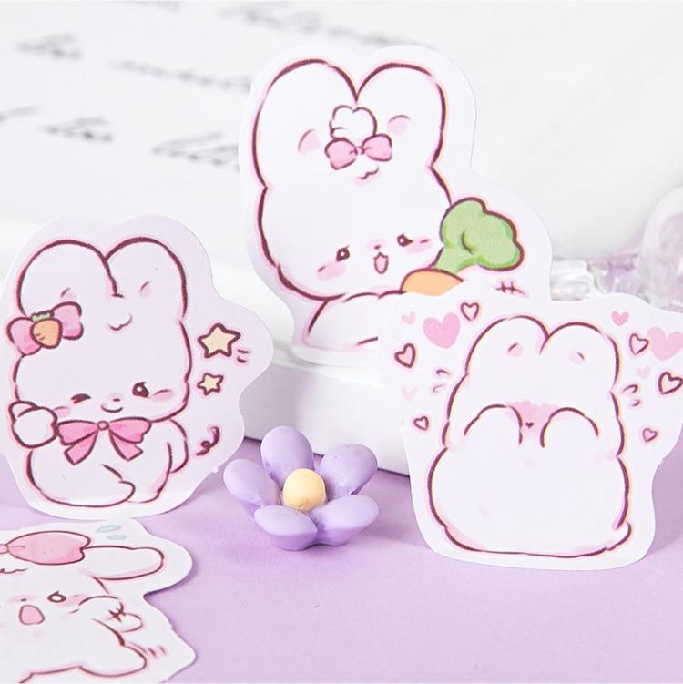 45 шт./кор. в виде милого кролика на каждый день, маленькие милые украшения наклейки планировщик для скрапбукинга канцелярские товары в Корейском стиле наклейки для дневника-2