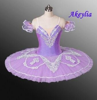 цена на Nutcracker Pancake Tutu Lilac Ballet Tutu Coppelia Professional Pink Classical Ballet Tutu Costumes sky blue For Performance