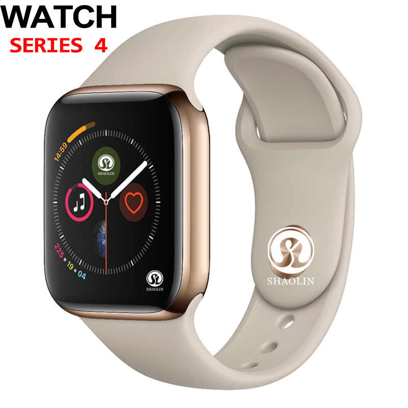 50% off 42mm Smart Watch Series 4 PUSH Message การเชื่อมต่อ Bluetooth สำหรับโทรศัพท์ Android IOS Apple iPhone 5 7 8 X Smartwatch