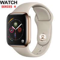 50% de descuento 42mm reloj inteligente de serie 4 reloj mensaje Bluetooth conectividad para teléfono Android IOS apple iPhone 5 7 8 X reloj inteligente