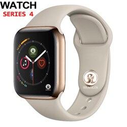 50% off 42mm smart watch series 4 zegar wiadomość Push łączność bluetooth na telefon z systemem android z systemem IOS apple iPhone 5 7 8 X Smartwatch w Inteligentne zegarki od Elektronika użytkowa na