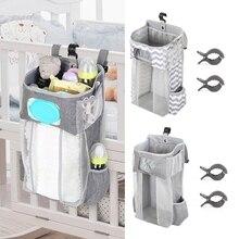 Storage-Bag Caddy-Organizer Essentials Bedding-Set Hanging Crib Stacker for Kids Foldable