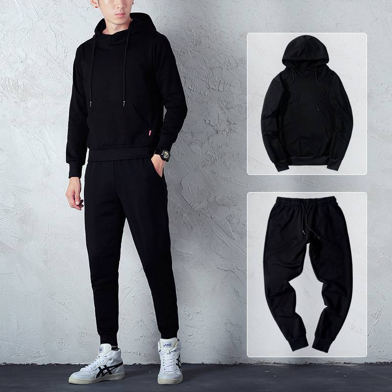 2019 New Products Listed Autumn BOY'S Hoodie Set Handsome Korean-style Casual Running Fitness Two-Piece Set