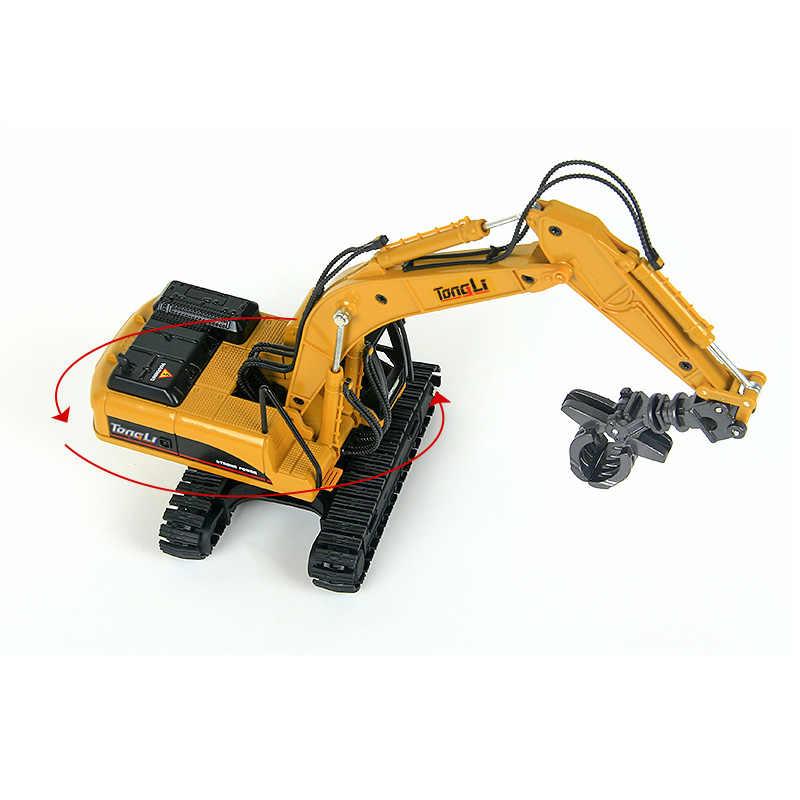 จำลองไฮดรอลิกอยู่ห่างออกไป 6.3 ของเล่นโลหะผสม 1:50 Scale ไม้คว้าชุดวิศวกรรมก่อสร้างรถปัจจุบันของขวัญเด็ก