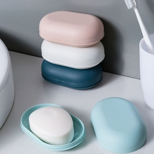 Container Soap-Box Storage-Case Tray-Holder Shower Bathroom Plastic Plate Travel 1PC