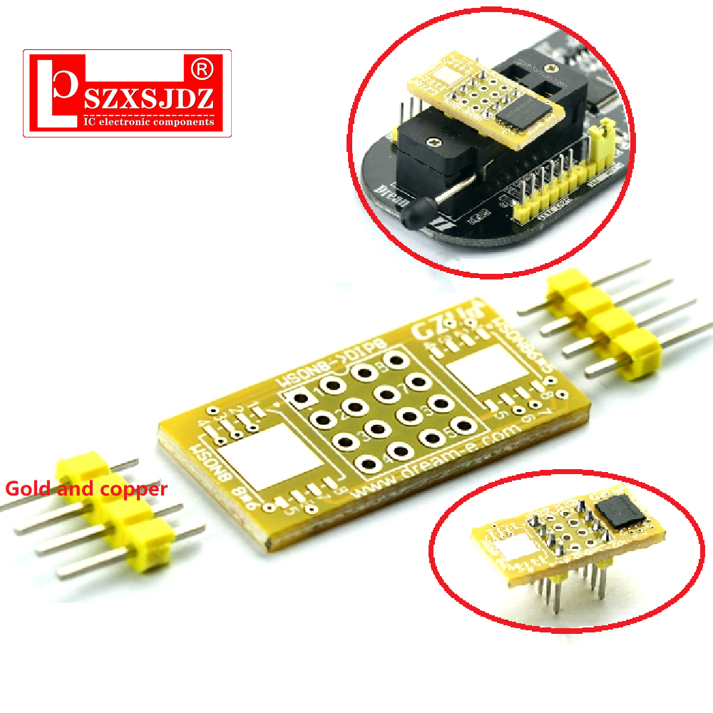 1pc 2 WSON8 To DIP8 Programmer Adapter Board QFN8/DFN8 To DIP8 & WSON8/MLF8 To DIP8 Socket J11 19 Dropship