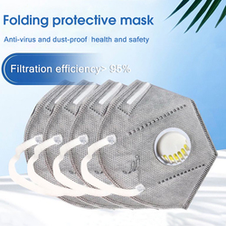 10PCS Reusable Mask Face Mouth Anti Dust Mask N95 Filter 6 Layers FFP3 Antivirus Flu Adult Mask Particulate Respirator PM2.5 4