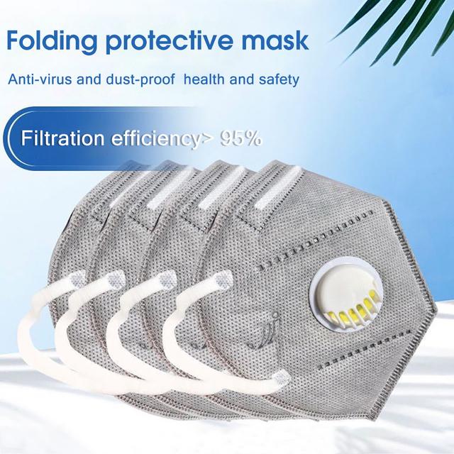 10PCS Reusable Mask Face Mouth Anti Dust Mask N95 Filter 6 Layers FFP3 Antivirus Flu Adult Mask Particulate Respirator PM2.5 3
