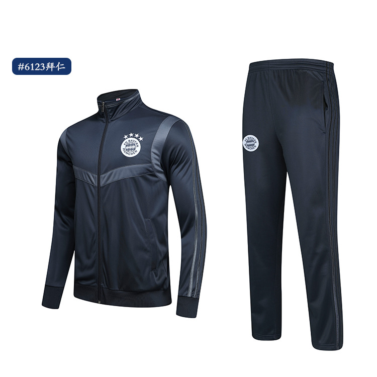 Juve Barcelona Football Club Real Madrid Autumn & Winter Paris Arsenal Long Sleeve Training Suit Adult Children Sports Jackets S