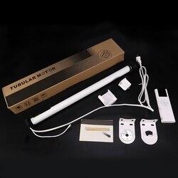 Комплект электрических штор переменного тока 100-240 В, Электрический роликовый затеняющий мотор, комплект с дистанционным управлением (штепс...