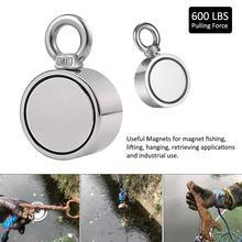 Макс 1700LBS двухсторонний сильный неодимовый магнит большой магнитный сильный спасательный речной рыболовный магнит кольцо крюк постоянный