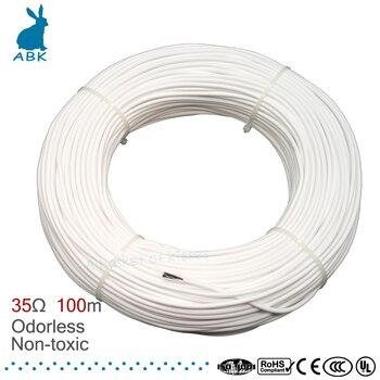 HRAG hohe qualität 12K 33ohm carbon faser heizung kabel boden heizung draht elektrische hotline ungiftig geruchlos warme heizung kabel