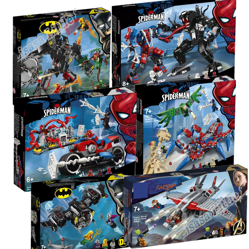 New Avengers 4 Endgame Spider Batman Legoinglys Marvel Set 76113 76114 76115 76119 Building Blocks Brick Toys For Children