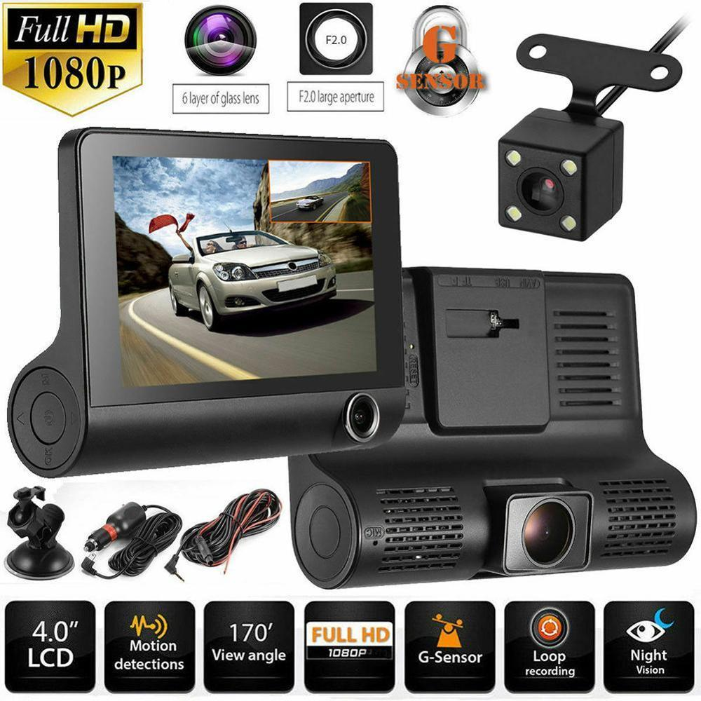 Driving-Recorder Recording Video-Loop Night-Vision Front Rear 170-Degree 1080P Car And