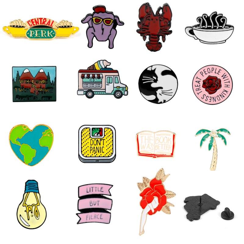 F.R.I.E.N.D.S Friends The TV Series Pin Badge Set of 6 Central Perk Lobster