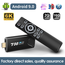 Tv Stick Android mini Box TV Android 9.0 6K BT 3D Android Tv Box 2g 16g Wifi Smart Tv Box lettore multimediale ricevitore TV Set Top Box