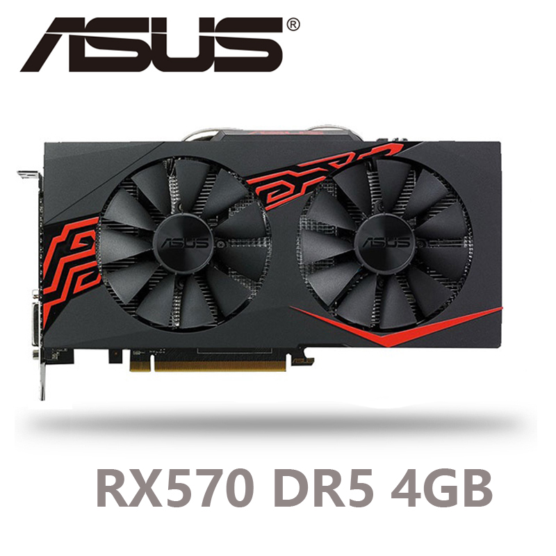 ASUS Video-Card GDDR5 Amd Rx RX570 HDMI 4GB 256bit DVI for 500-Series Rx570/displayport title=