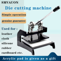New Manual Pressure Machine Double Wheel Hand Leather Cutting Machine Mold Cutter DIY Leather Cutting Dies Machine