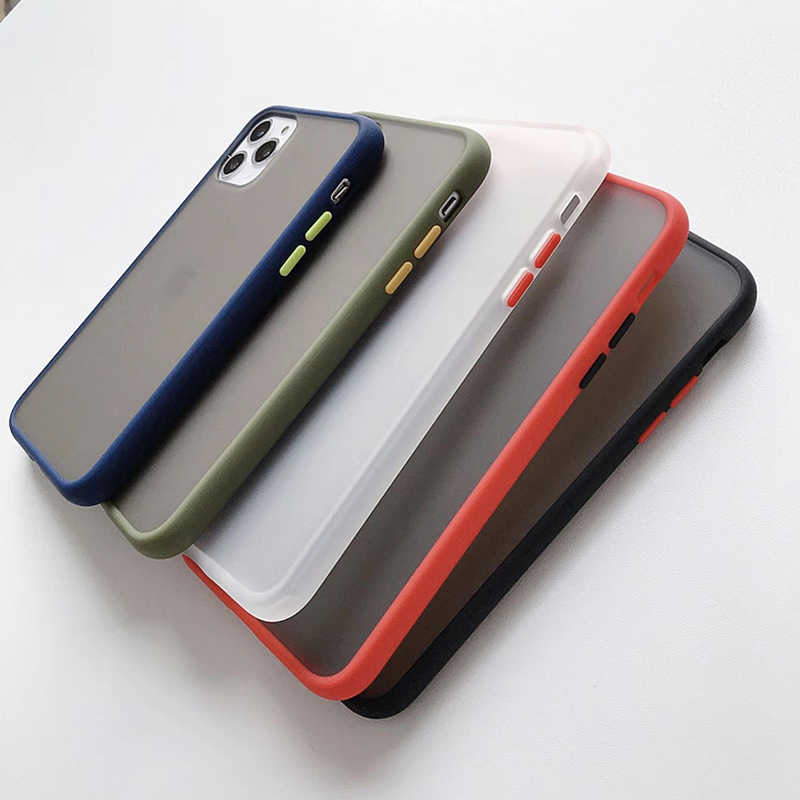 Funda de teléfono dura mate para OnePlus 6, 67, 7, 7T Pro, funda para iPhone 11 Pro Max Xs XR X 6, 6S, 7, 8 Plus, 5 5S, funda trasera dura transparente
