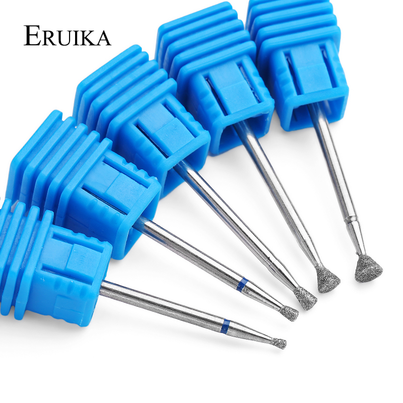 ERUIKA 5 Type Diamond Nail Drill Bit Rotary Cutter For Manicure Electric Machine Remove Dead Skin Accessory Nail Salon Tools