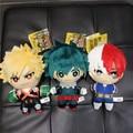15 см моя геройская Академия Deku Мягкие плюшевые куклы кулон мультфильм аниме Baguko Todoroki милые хлопковые игрушки для детей подарок на день рожд...