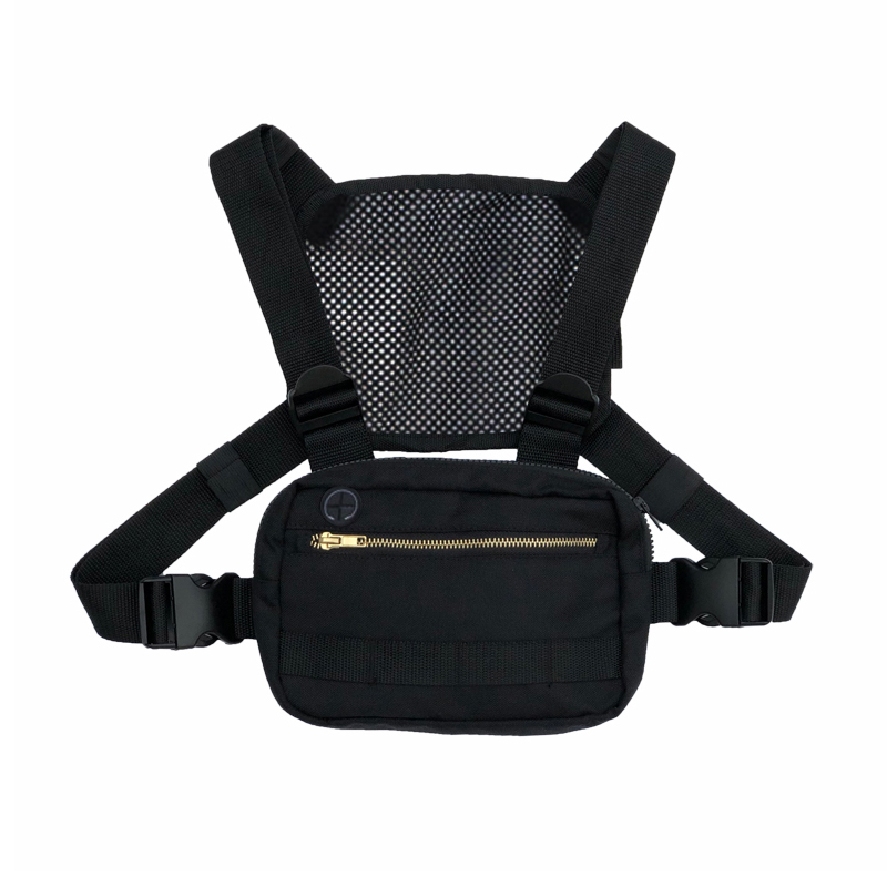 Hot Small Functional Tactical Chest Bag for Men Fashion Mini Chest Rig Tactical Vest Streetwear Shoulder Bag Waist Fanny Pack car seat