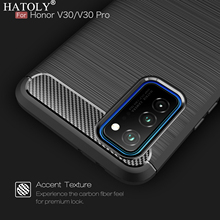 For Huawei Honor V30 Pro Case Soft Silicone Carbon Fiber TPU Bumper Phone Cover Honor View 30 Pro Case For Huawei Honor V30 Pro 2 1mm thick luxury bumper case for huawei honor v30 germany bayer material case honor v30 pro independent plating button cover