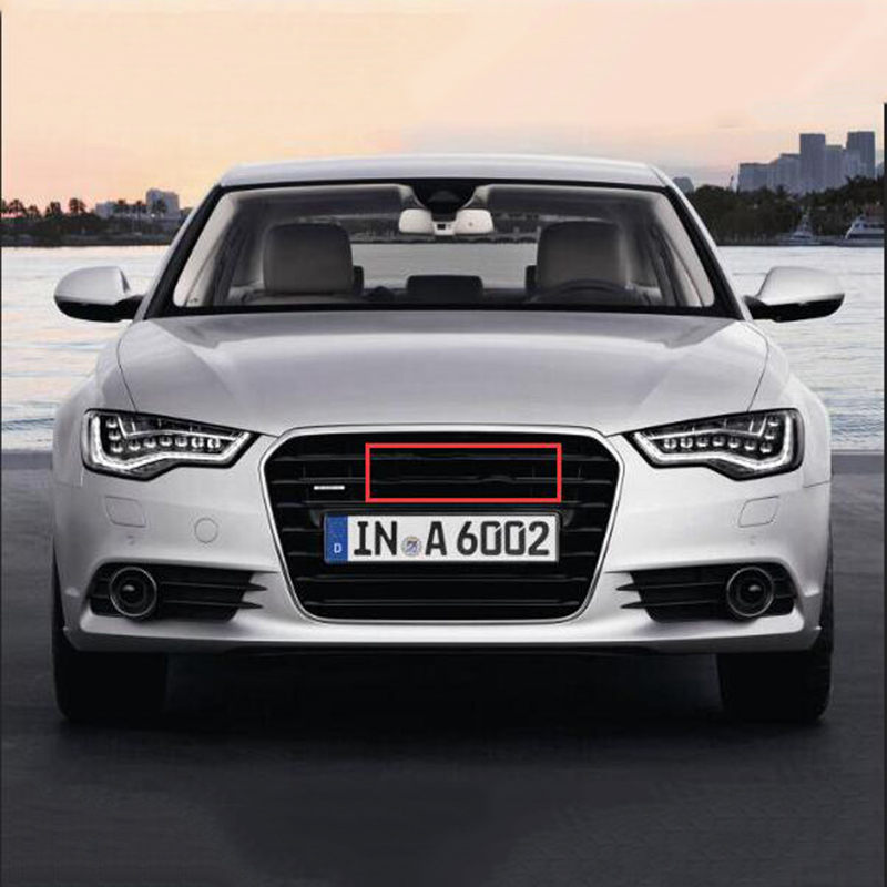Glossy Black Emblem Logo for Audi A3 A4 A4L A6L TT Q3 Q5 Q7 A5 A7 RS3 RS4 RS5 RS6 Front Middle Rings Grille Badge Trunk Sticker image